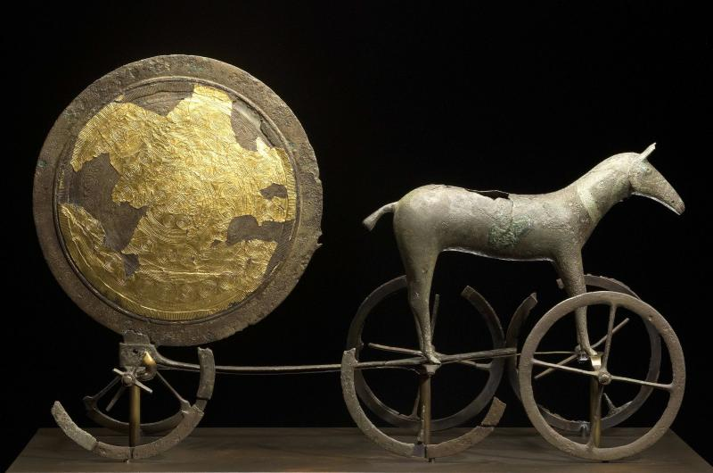 The Chariot of the Sun, Trundholm, Zealand, early Bronze Age © National Museum, Copenhagen